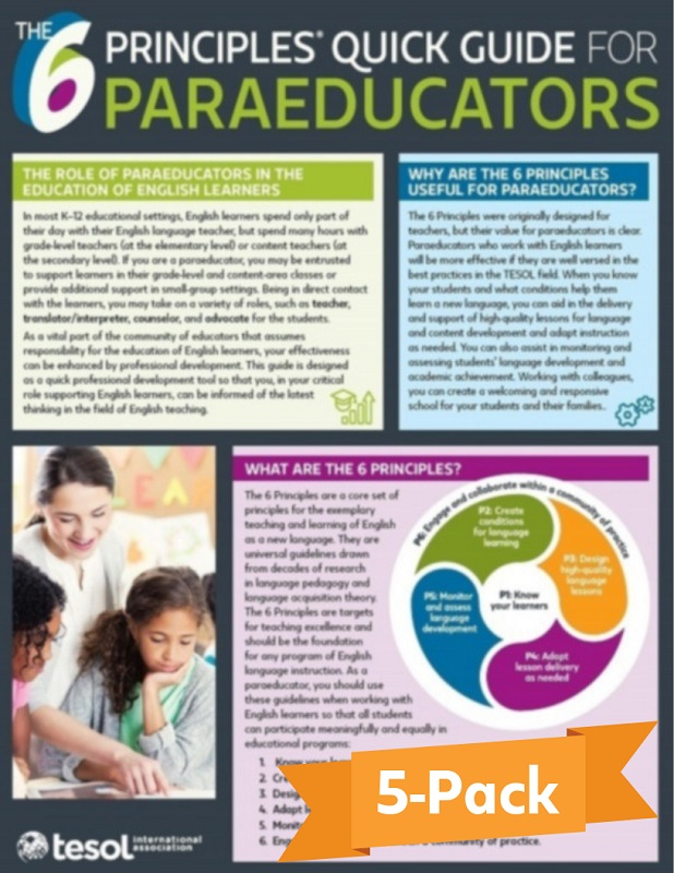 The 6 Principles® Quick Guide for Paraeducators (5 pack) (Paper)